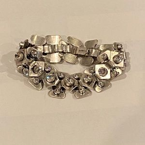 🆕Jcrew Silver and Crystal Link Bracelet